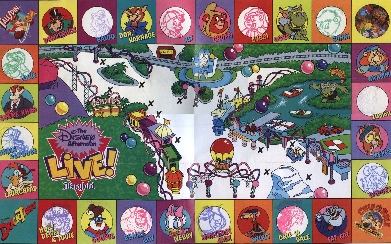 Disney Afternoon Live Stamp Map